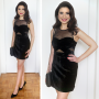 The Black Velvet Birthday Dress