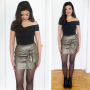 Birthday Outfit 2: Metallic Skirt