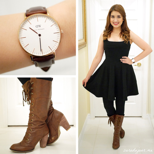 OOTD: Little Black Dress   Boots • Sara du Jour