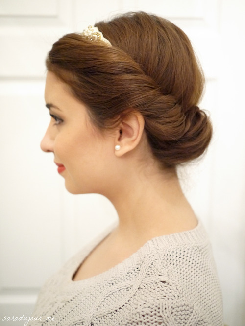 Vintage Princess Braided Updo Tutorial