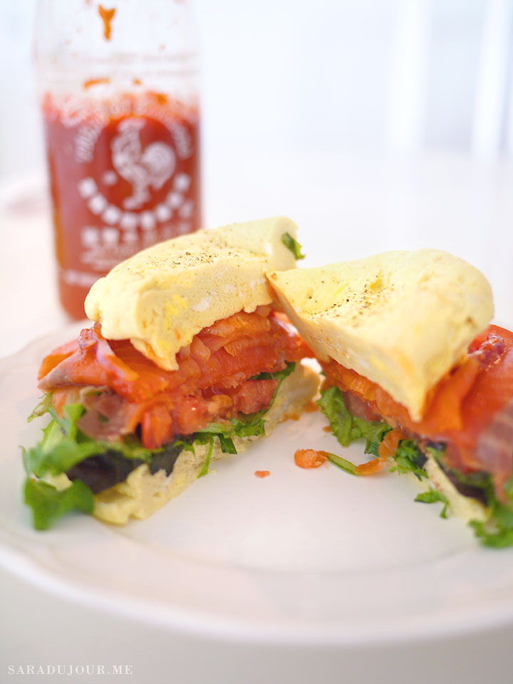 Egg Frittata Breakfast Burger Recipe | Sara du Jour