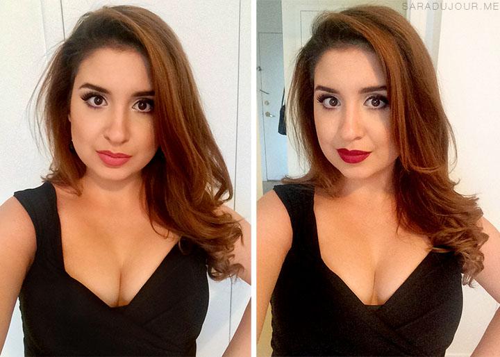 Nude Lipstick vs Burgundy Lipstick