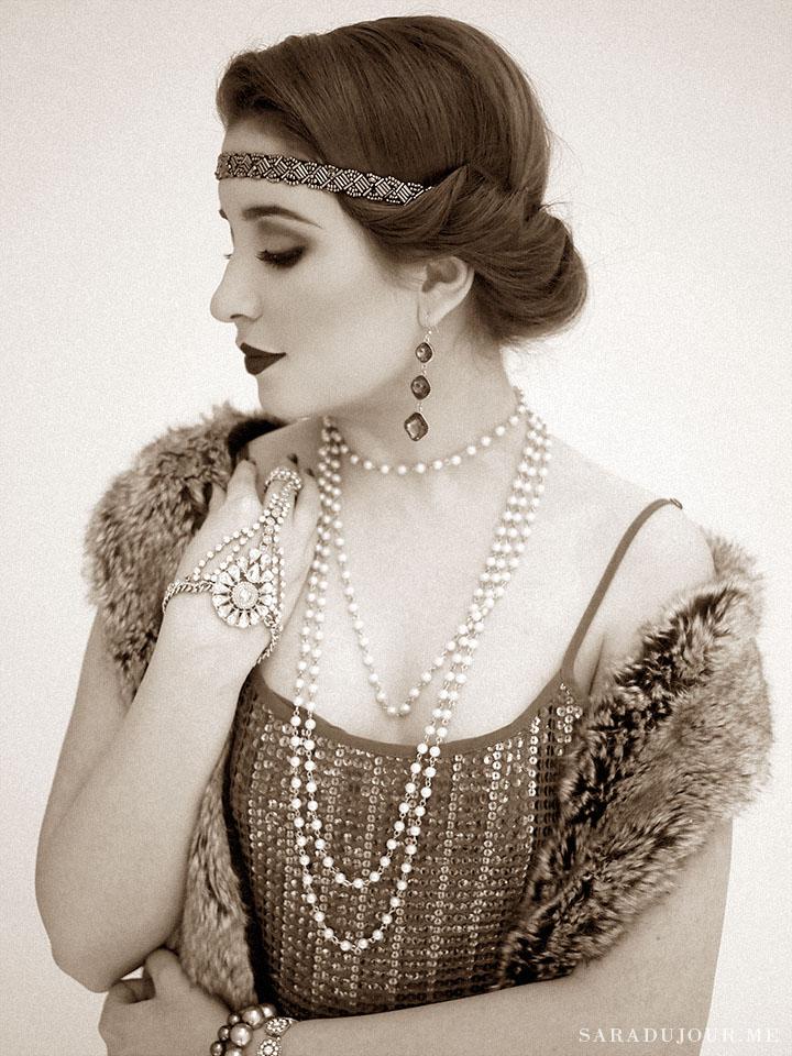 Super A 1920S Gatsby Christmas Party Sara Du Jour Short Hairstyles Gunalazisus