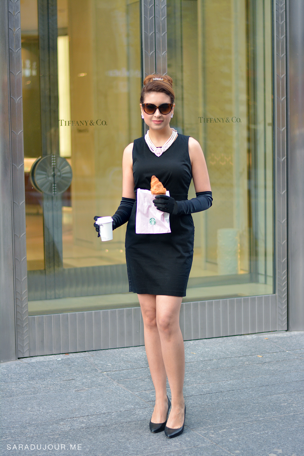 Audrey Hepburn (Holly Golightly) Breakfast at Tiffany's Halloween Costume | Sara du Jour