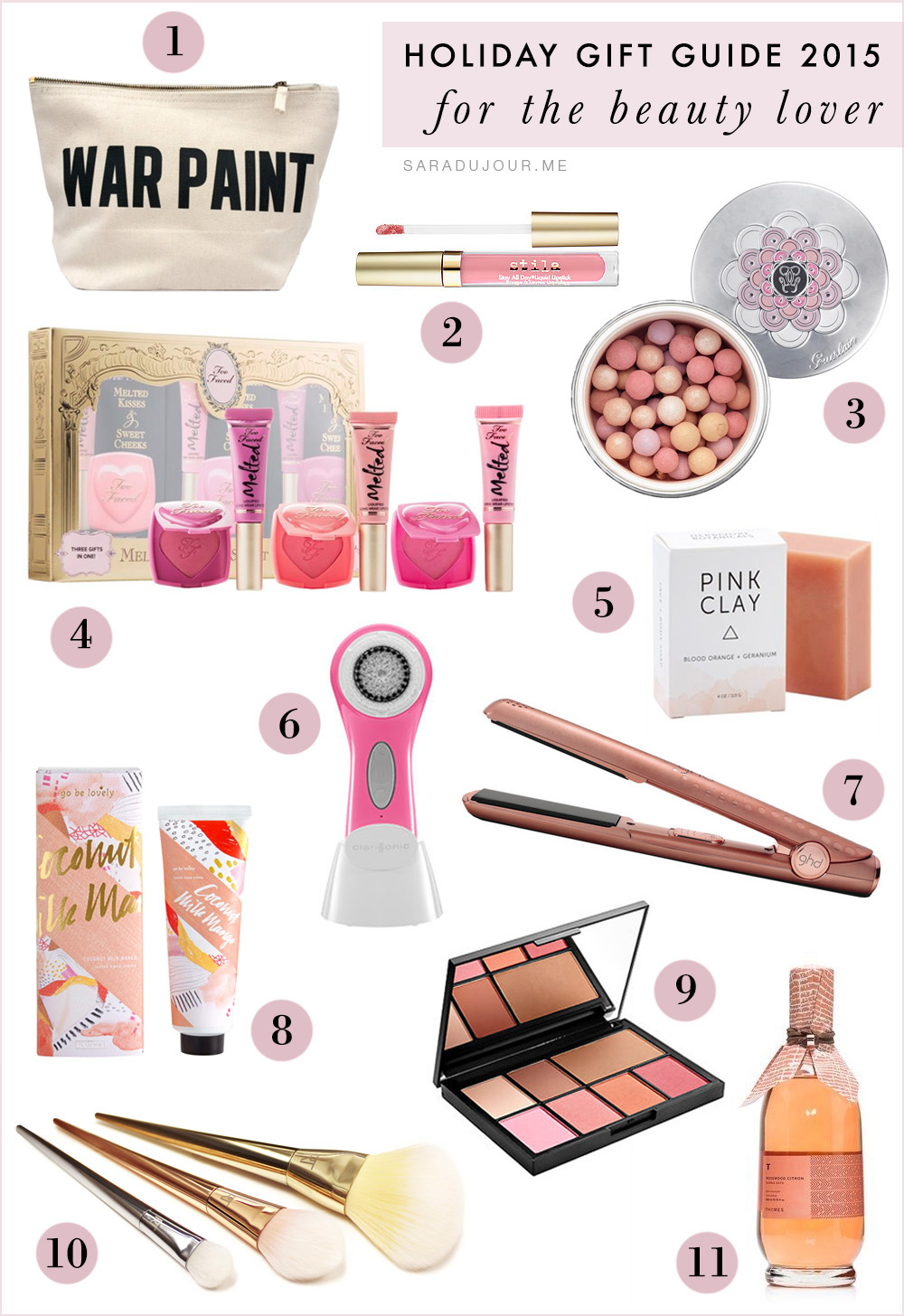 Holiday Gift Guide 2015: for the Beauty Lover | Sara du Jour