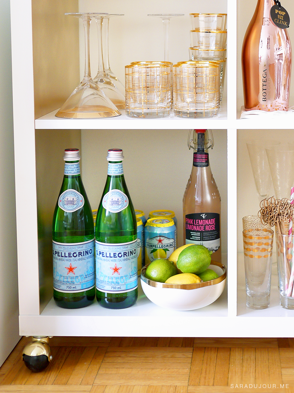 Bar Cart Essentials - Pellegrino |Sara du Jour