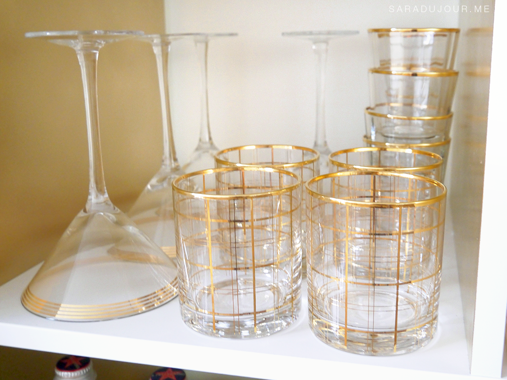 Bar Cart Essentials - Gold Glassware |Sara du Jour