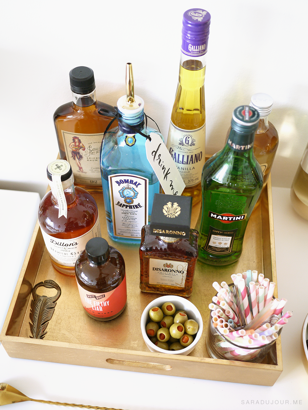Bar Cart Essentials - Spirits |Sara du Jour