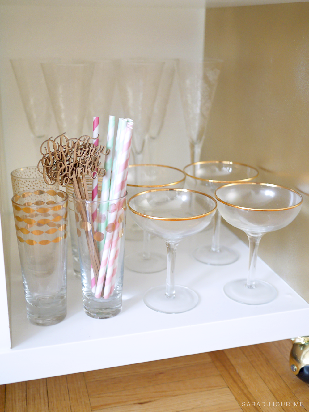 Bar Cart Essentials - Champagne Glassware|Sara du Jour