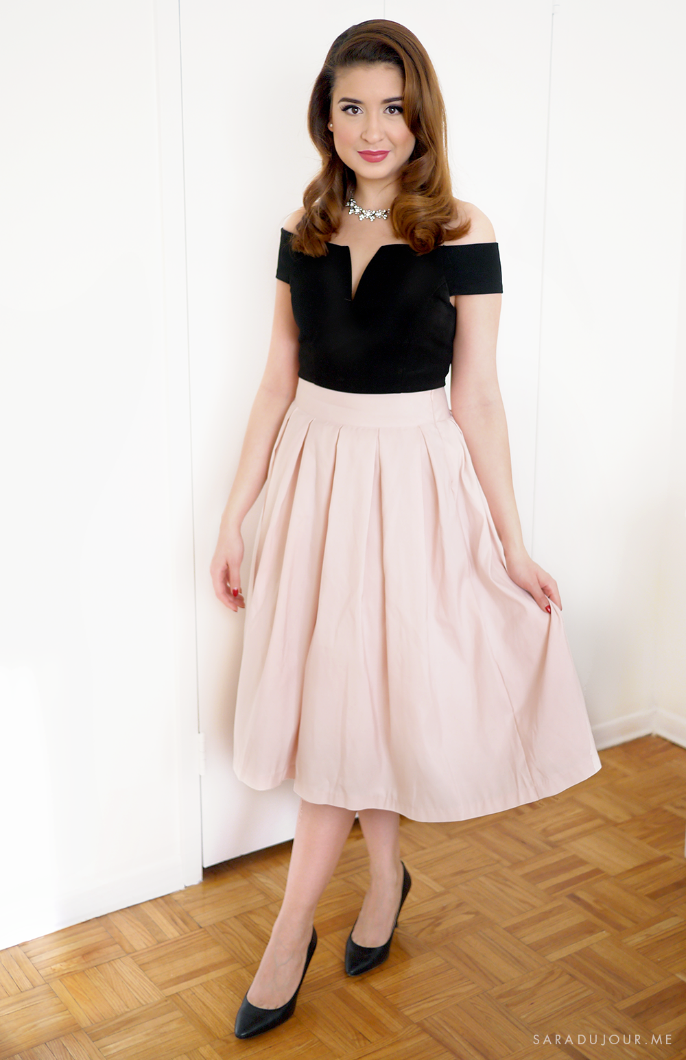 Retro 1950s Christmas Party Outfit u2022 Sara du Jour