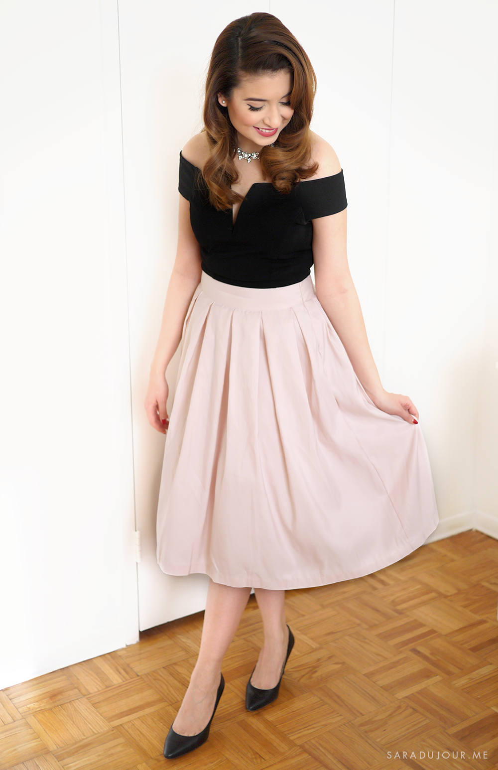 Retro 1950s Christmas Party Outfit | Sara du Jour