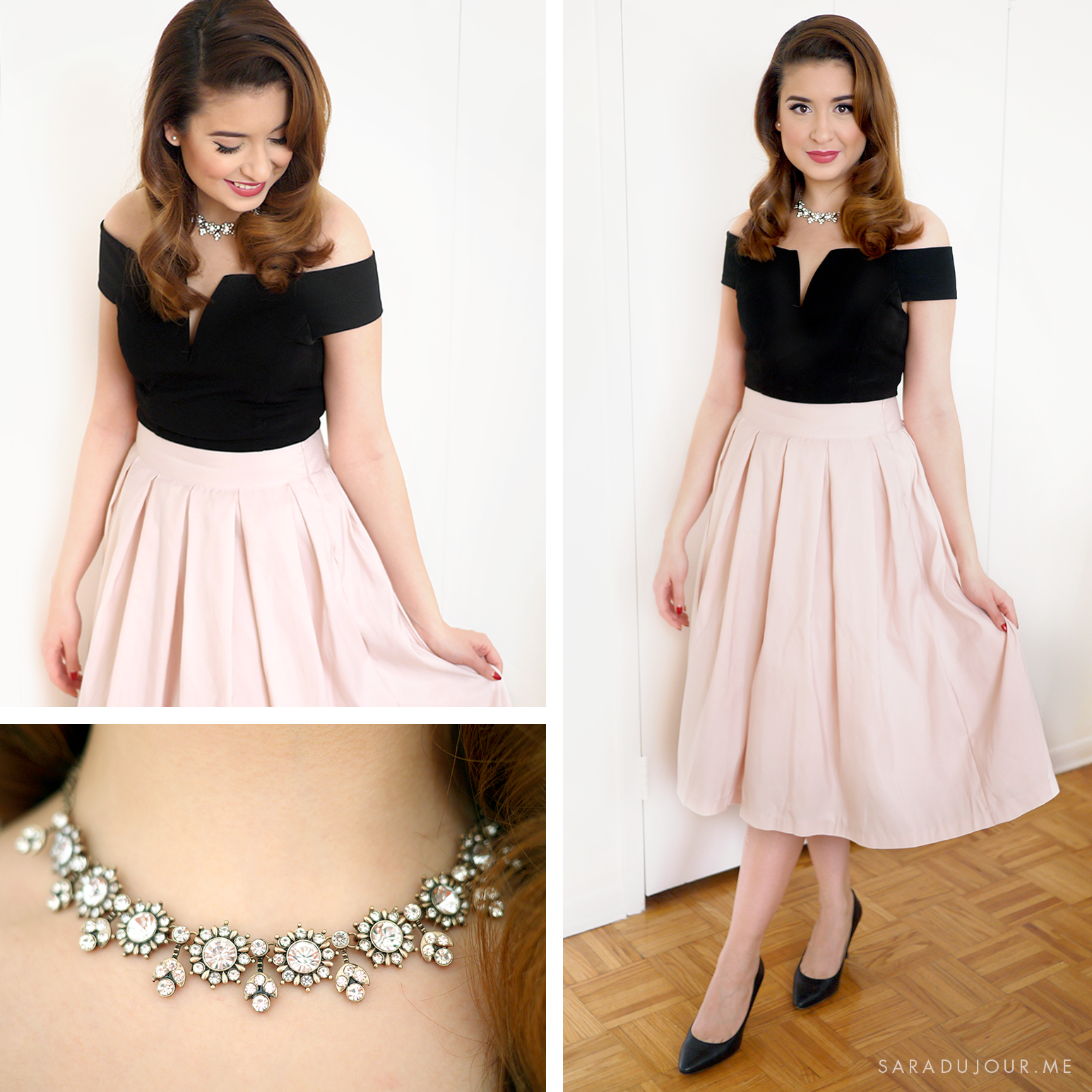 a3d3727d8f73 Retro 1950s Christmas Party Outfit • Sara du Jour