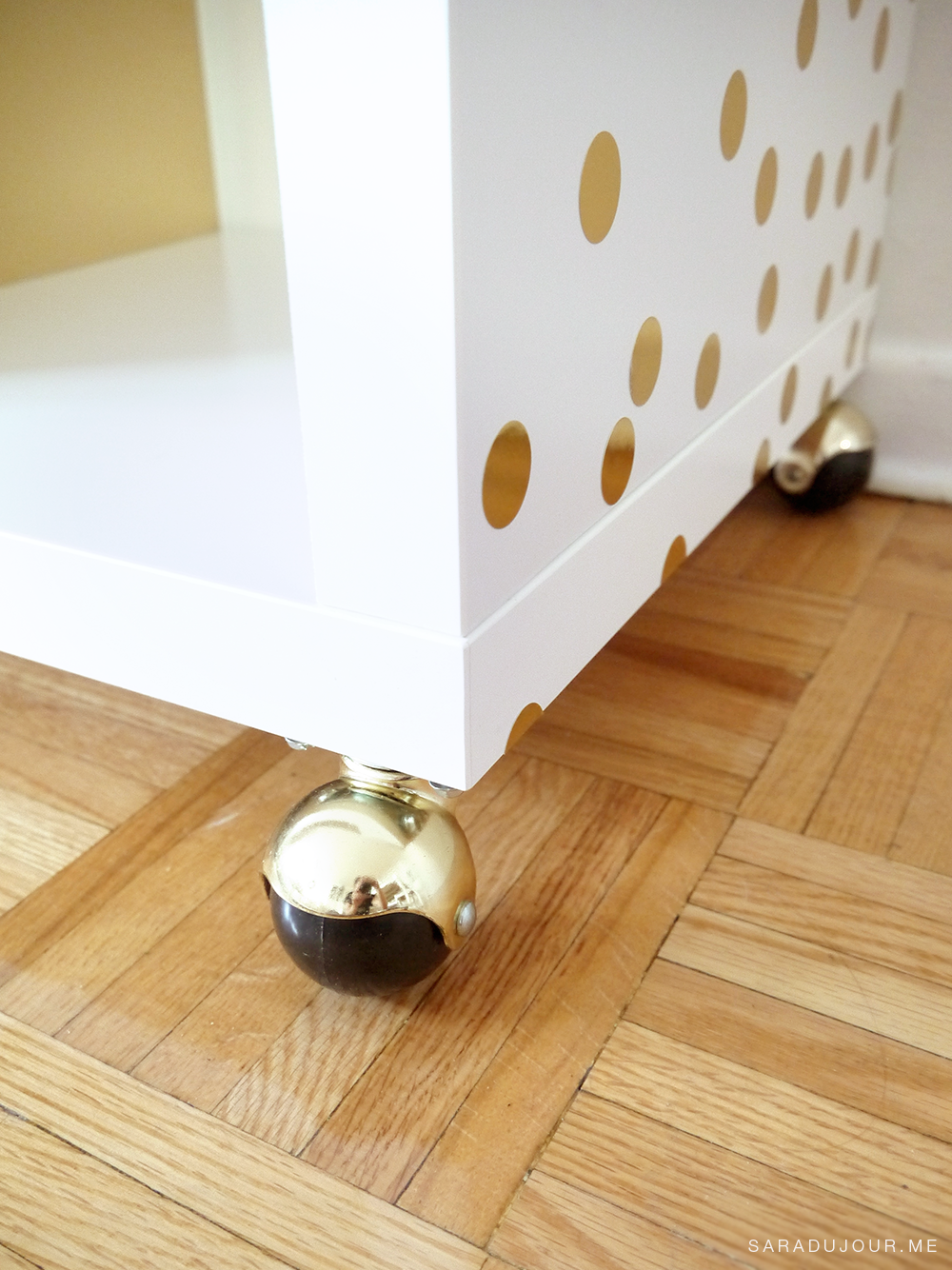 DIY White + Gold Bar Cart (IKEA Hack) | Sara du Jour