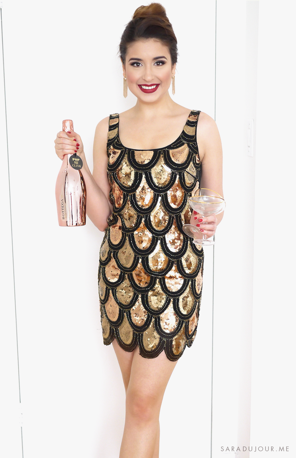 Sparkly New Year's Eve Party Outfit | Sara du Jour