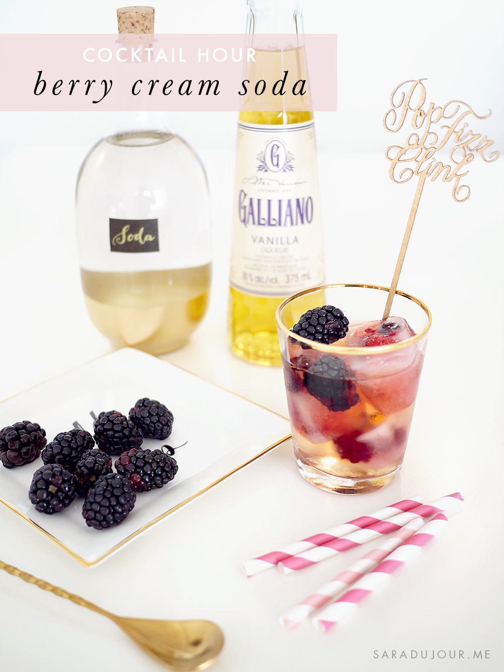 Cocktail Hour: Berry Cream Soda Recipe | Sara du Jour