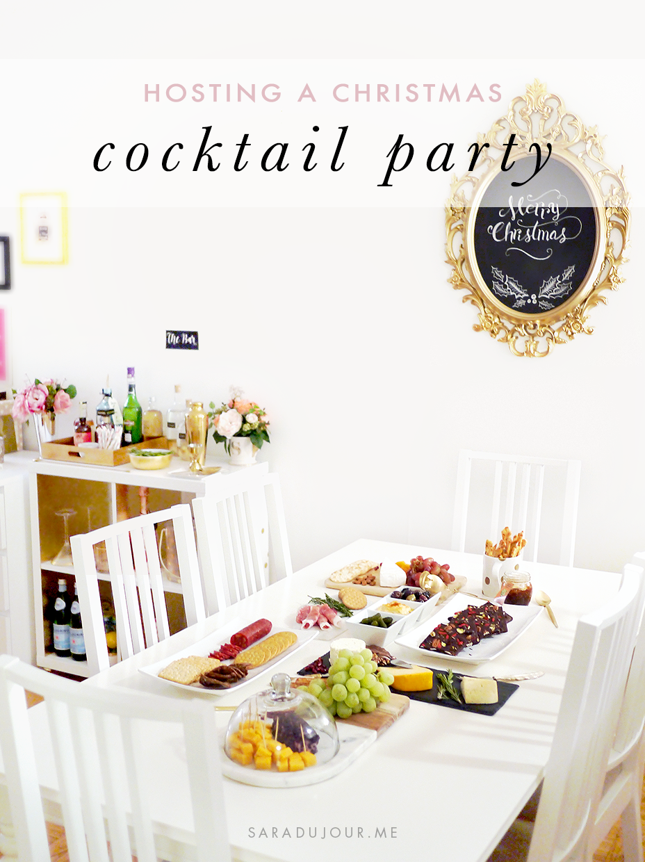 Hosting a Christmas Cocktail Party | Sara du Jour