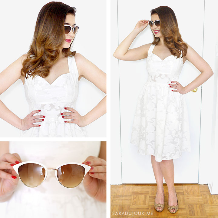 Retro White Dress Outfit + Tobi Haul | Sara du Jour