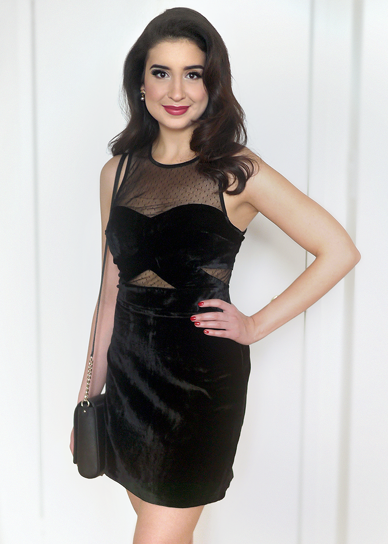 Black Velvet Birthday Dress | Sara du Jour
