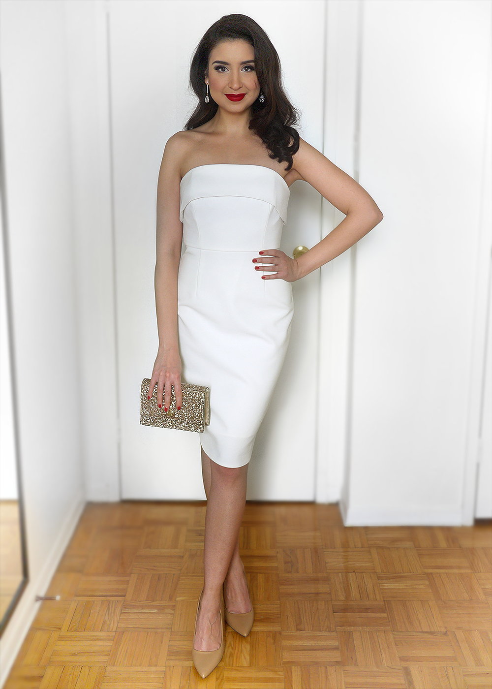 Office Holiday Party Dress: Winter Whites | Sara du Jour
