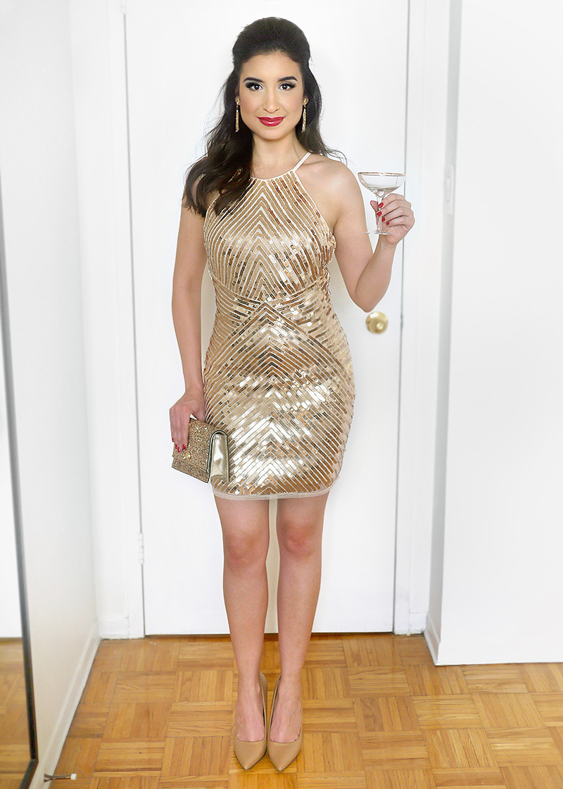 New Year's Eve Sequin Party Dress | Sara du Jour