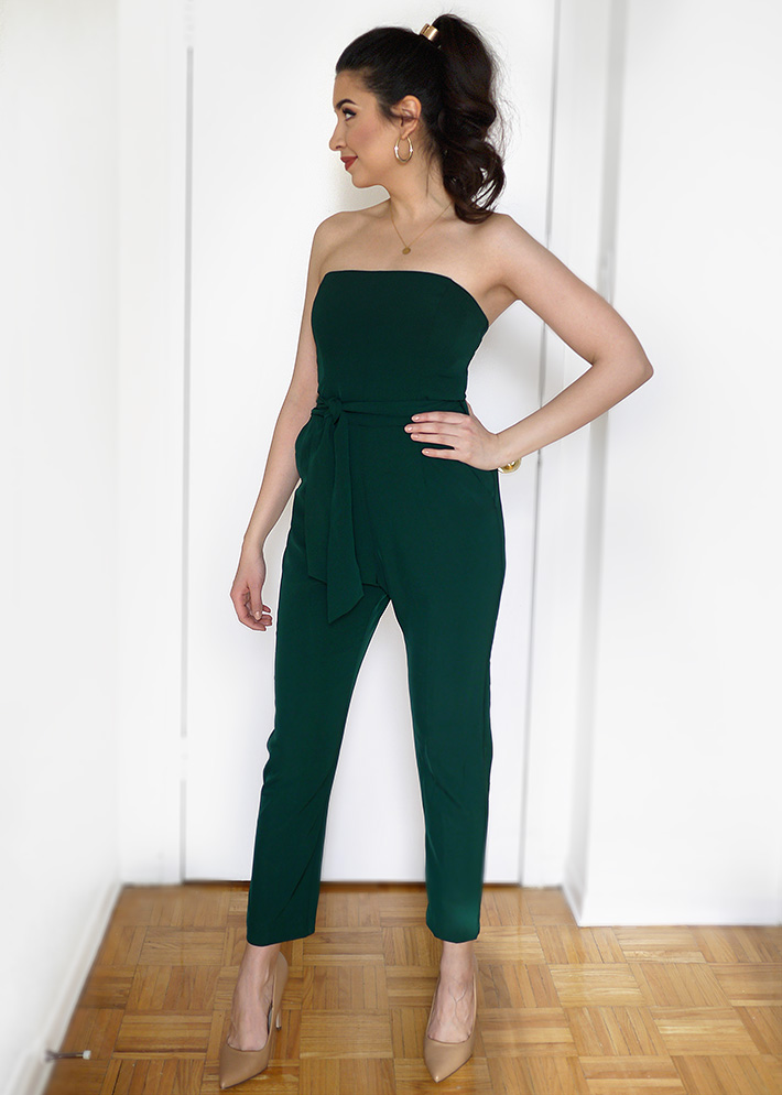 Hunter Green Jumpsuit Outfit | Sara du Jour
