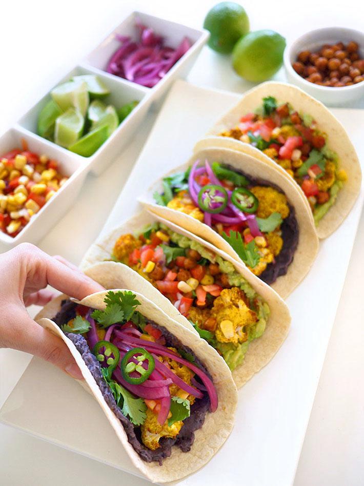Vegan Cauliflower Tacos 2 Ways | Sara du Jour
