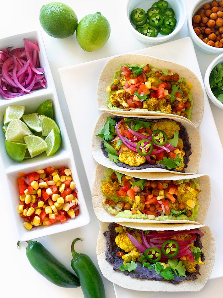 Vegan Cauliflower Tacos 2 Ways | Sara du Jour