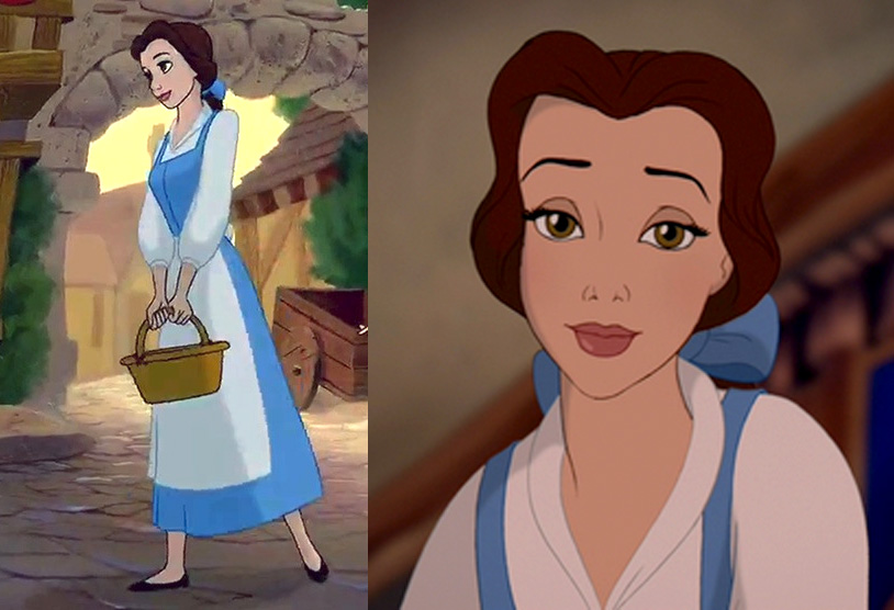 Belle Blue Dress Animated Costume Reference