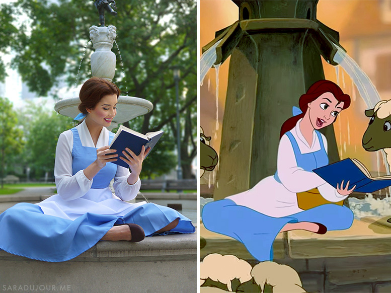 Belle Beauty and the Beast Live Action Comparison | Sara du Jour