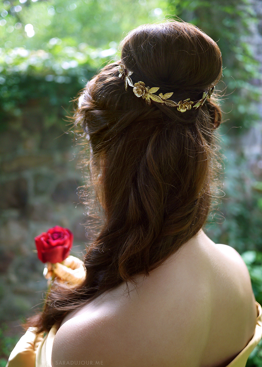 Belle Gold Dress Cosplay Hair | Sara du Jour