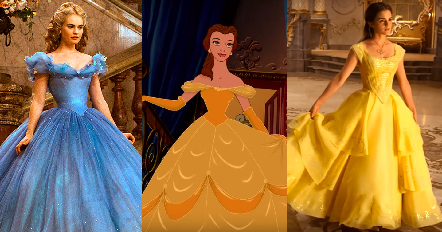Disney Live Action Dress Comparison - Belle and Cinderella