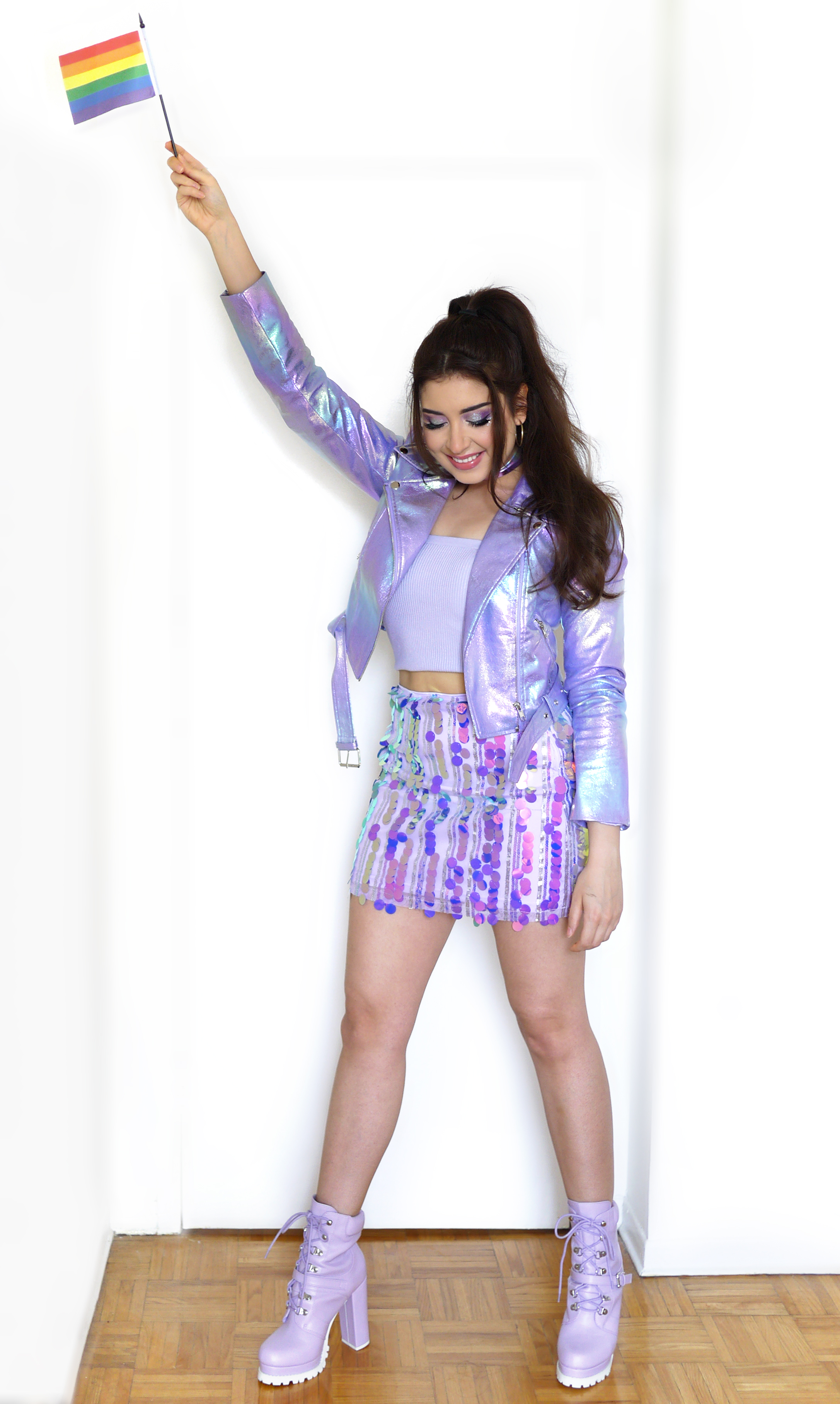 Iridescent Pride Outfit | Sara du Jour