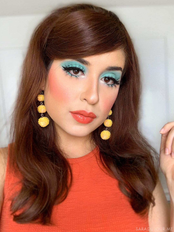 1960s Inspired Turquoise Eye Makeup | Sara du Jour