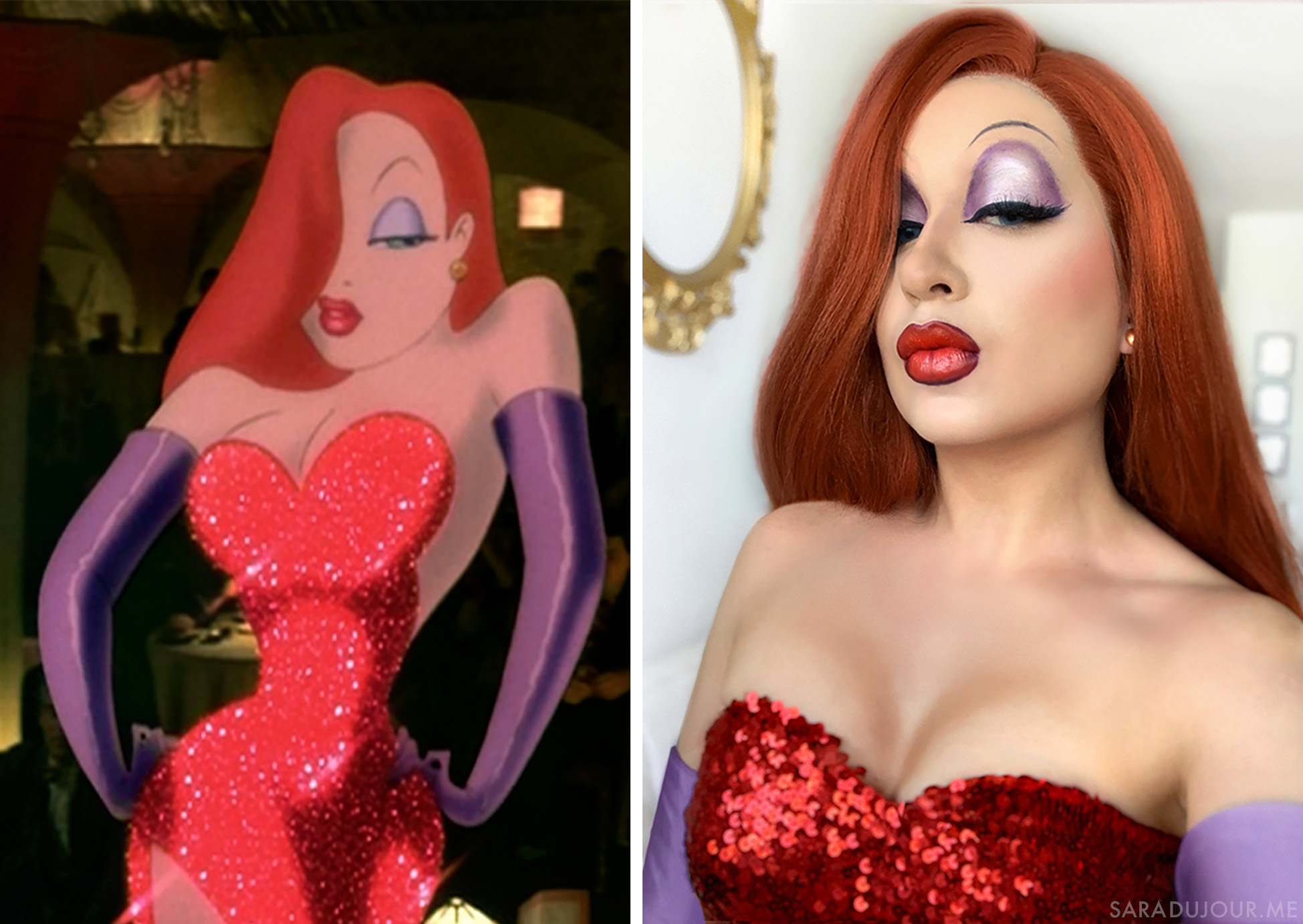 Jessica Rabbit Cosplay and Makeup Transformation | Sara du Jour