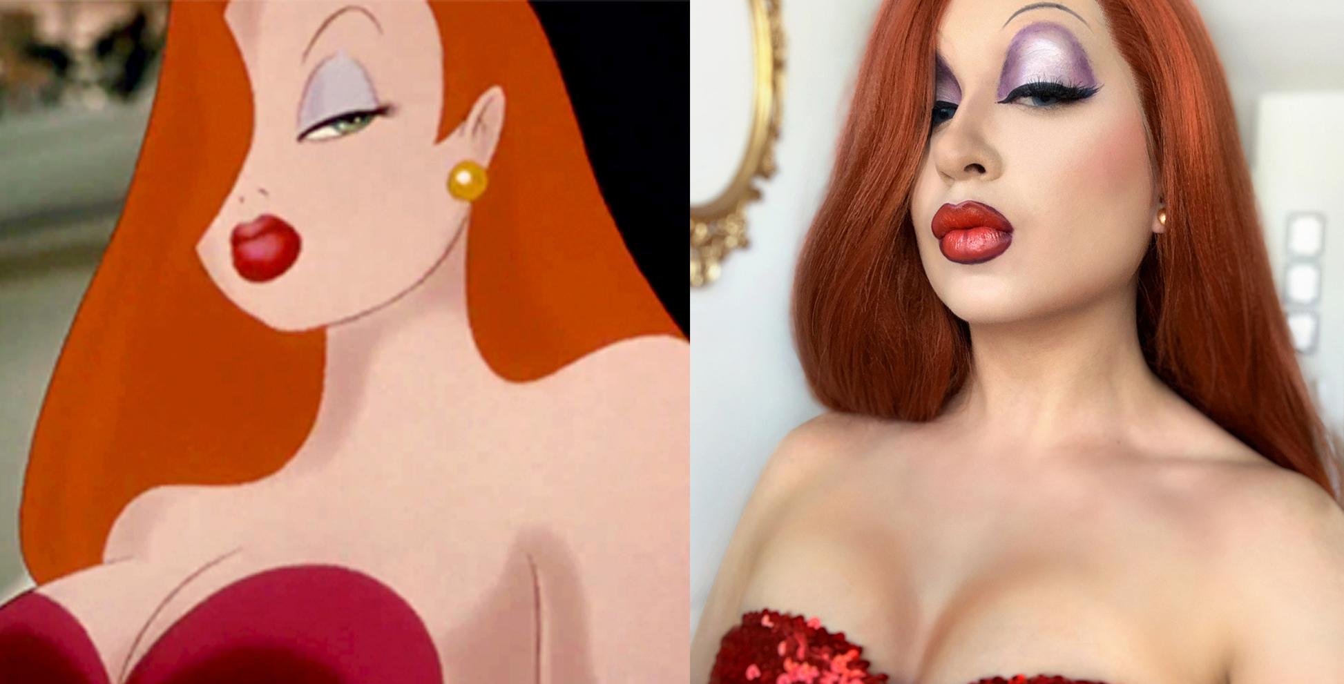 Jessica Rabbit Drag Makeup | Sara du Jour