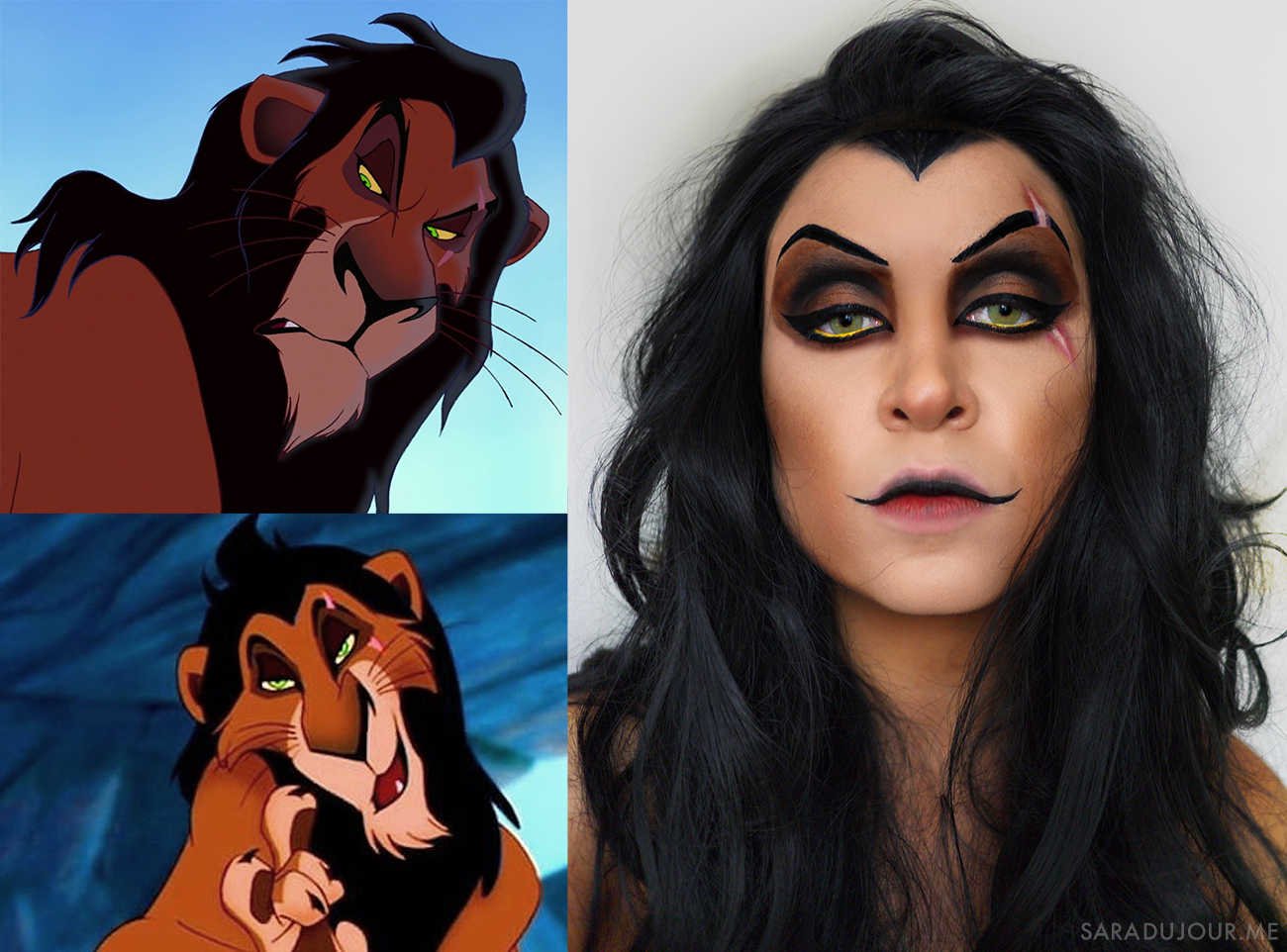 Scar Lion King Drag Makeup | Sara du Jour