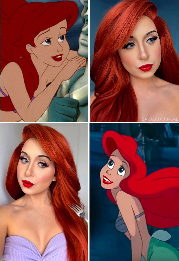 Ariel Cosplay Side by Side | Sara du Jour