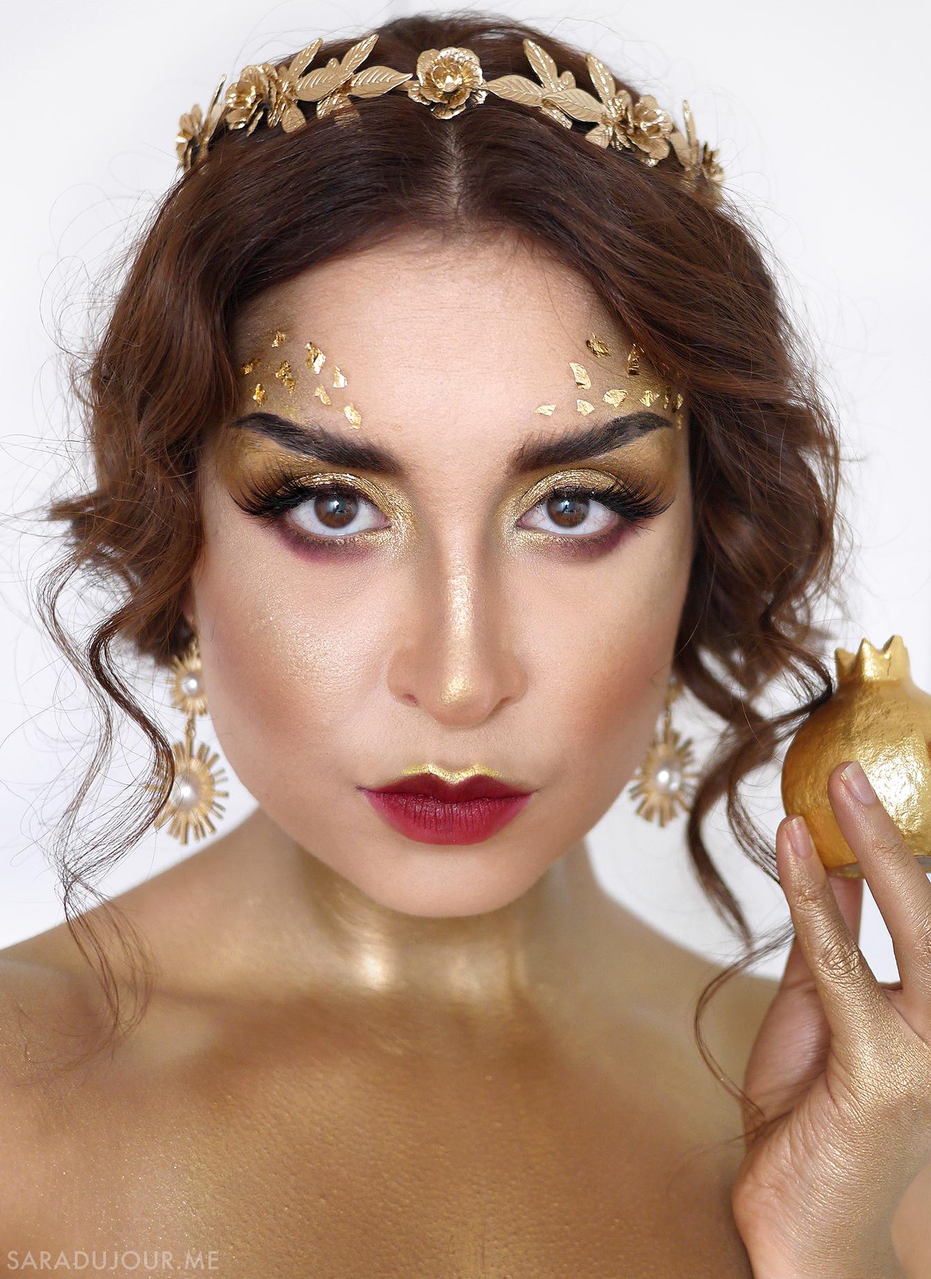 Queen Midas - Gold Makeup | Sara du Jour
