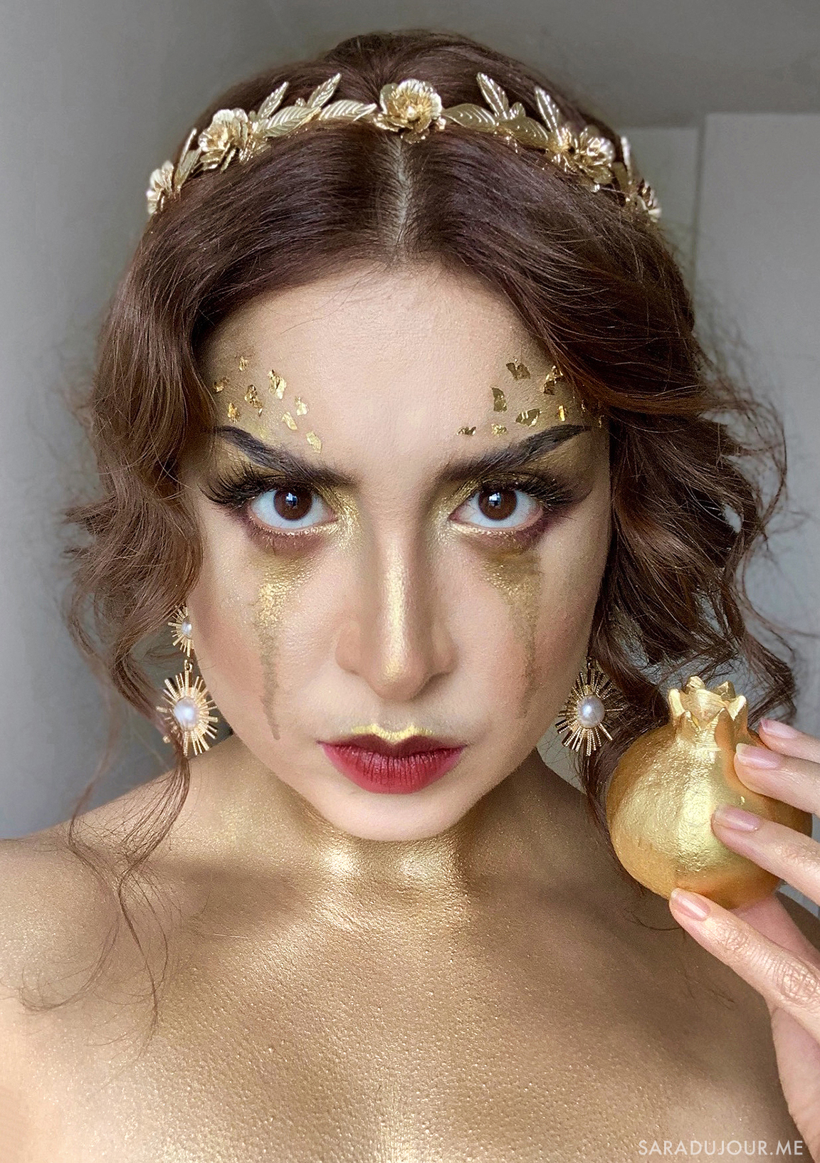 Queen Midas - Gold Makeup | Sara du Jour