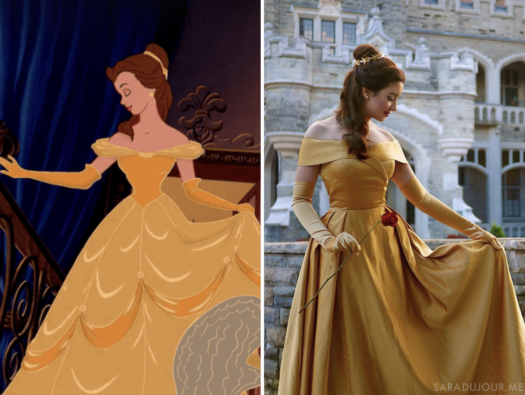 Belle Gold Dress Halloween Costume + Cosplay | Sara du Jour