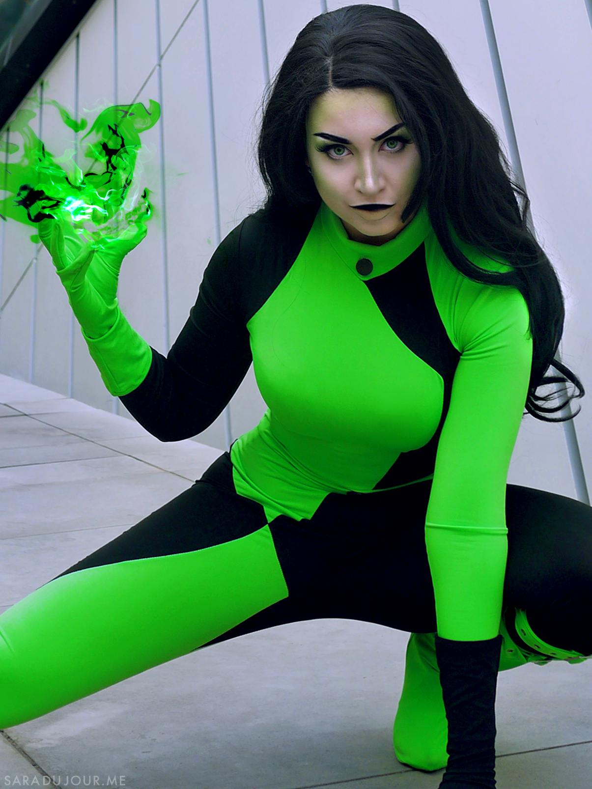 Shego Cosplay Makeup - Kim Possible | Sara du Jour