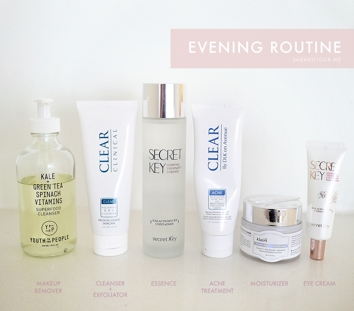 Evening Skincare Routine for Clear Skin | Sara du Jour