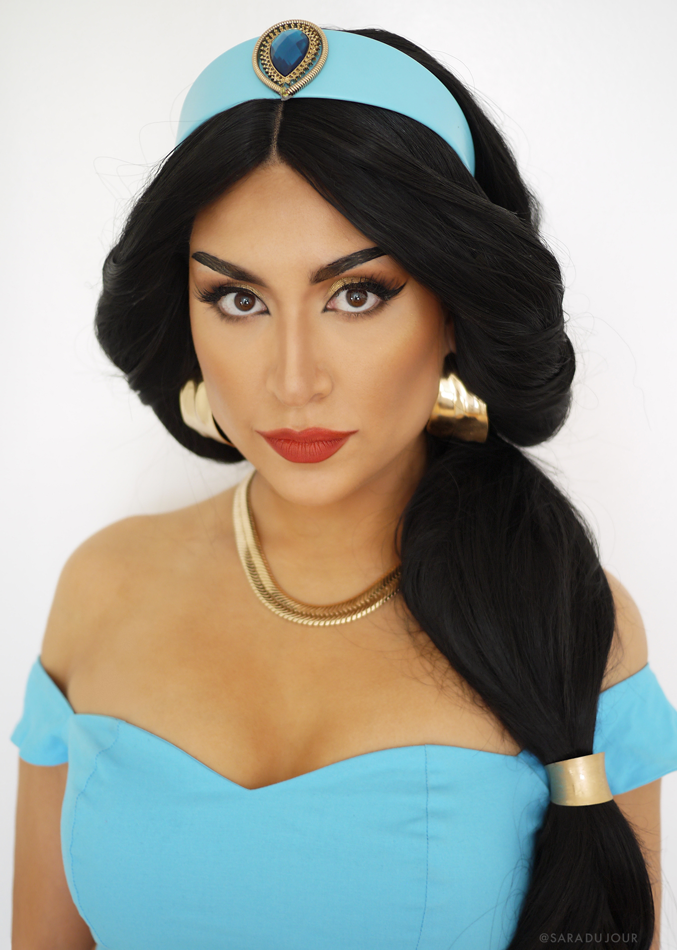 Princess Jasmine Cosplay Makeup + Costume | Sara du Jour